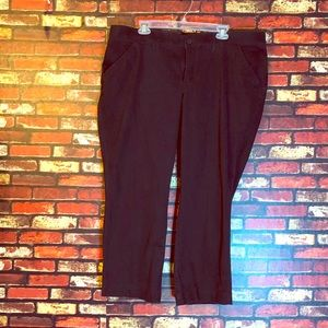 22W Petite Lee Sinfully Soft Black Pants